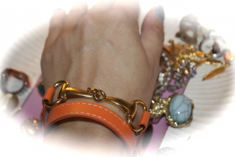Orange Derby bracelet from Pinklette