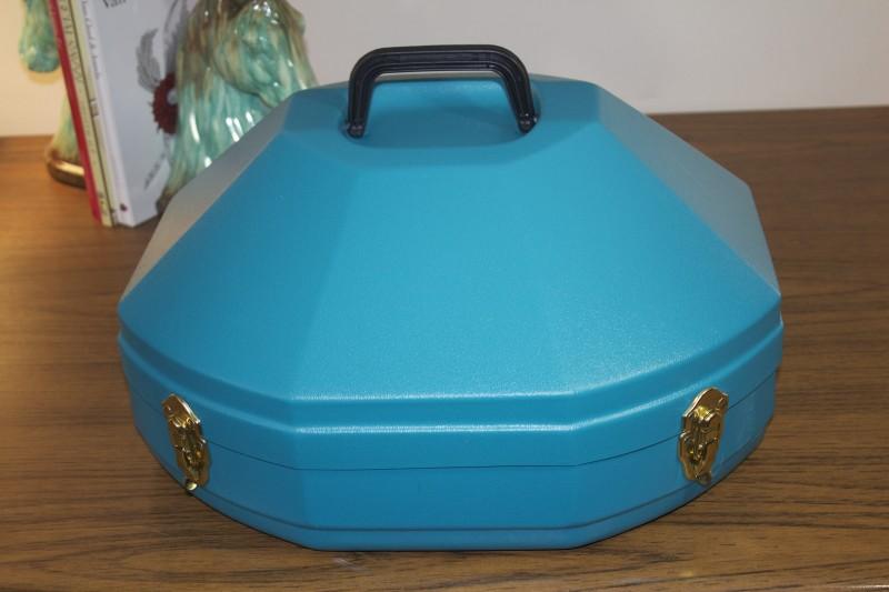 turquoise hat box