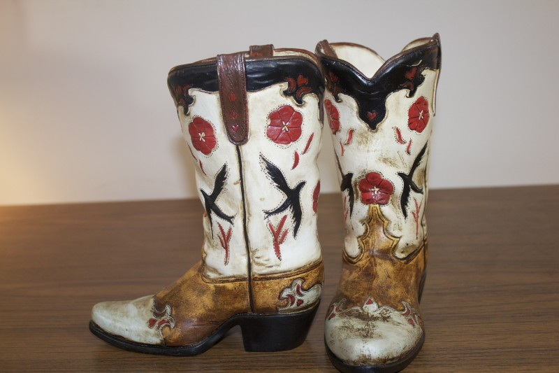 All About Accents Amp Occasions Ceramic Cowboy Boot Planter Or