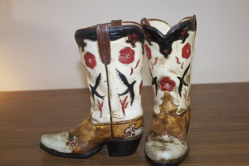 ceramic cowboy boot planters