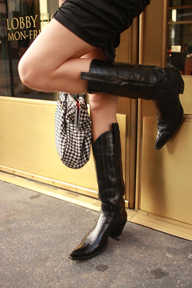 delaCav black cowboy boots