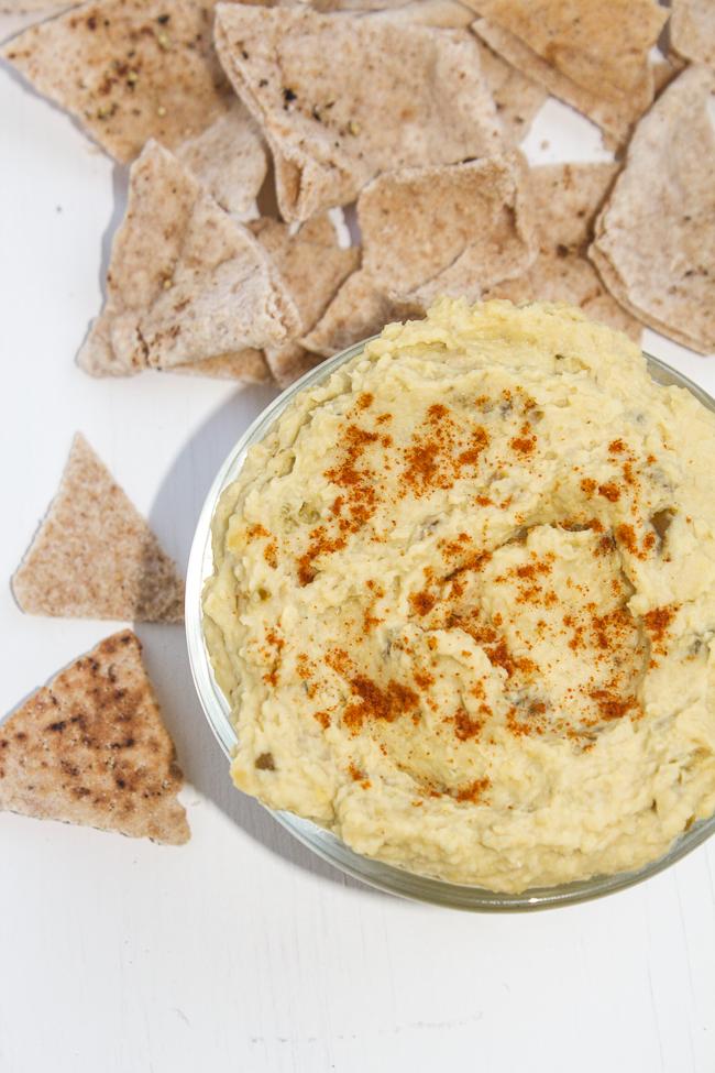 3 Ingredient Jalapeno Hummus