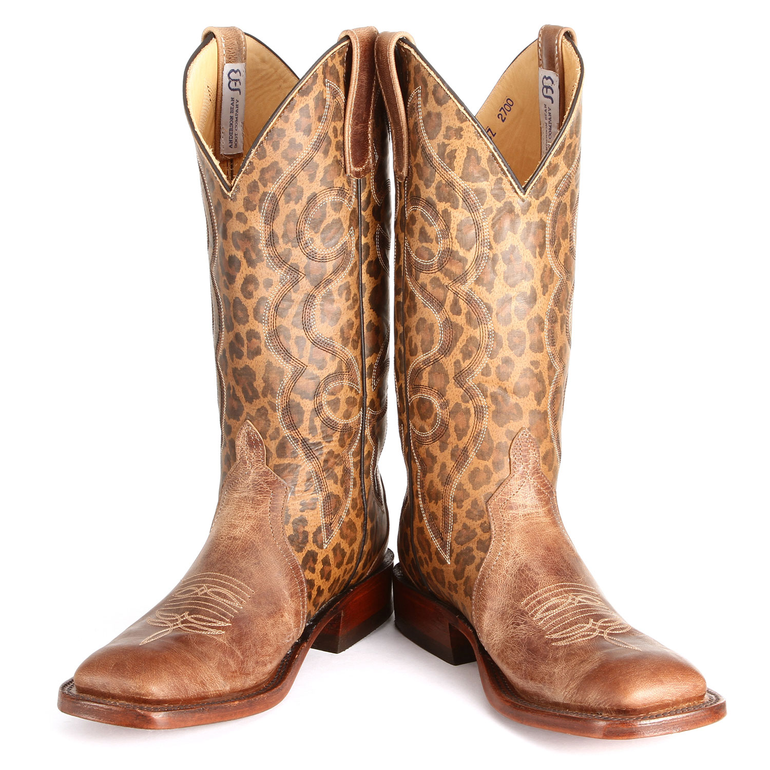 Brown Leopard Anderson Bean Boots from PFI Western Store