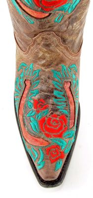 Red & turquoise Corral cowboy boots