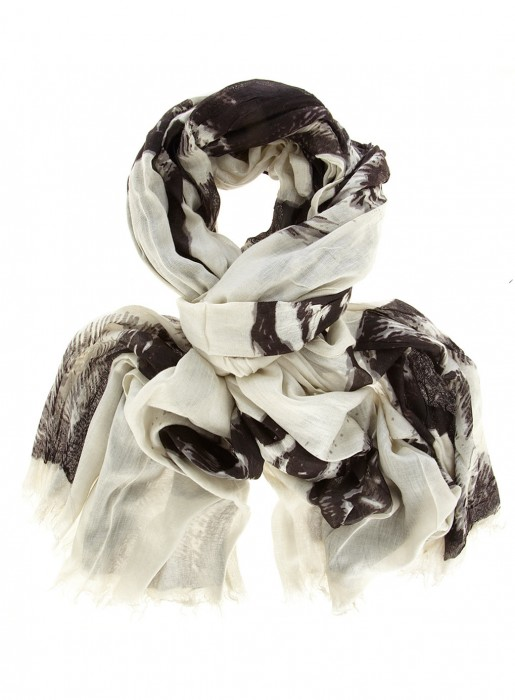Black & Cream horse print scarf