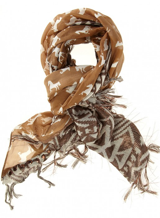 Aztec & horse print scarf