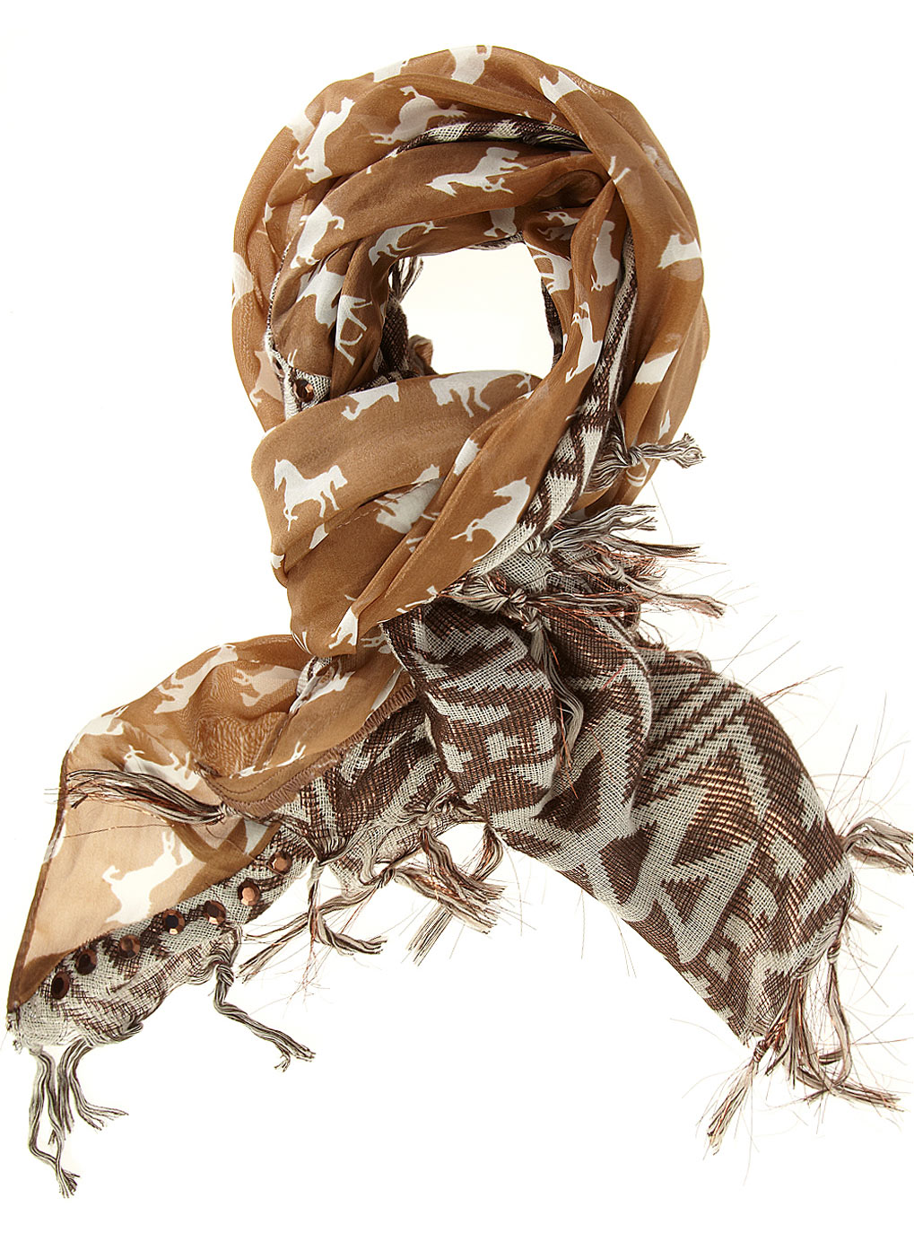 3 Chic Horse Print Scarves