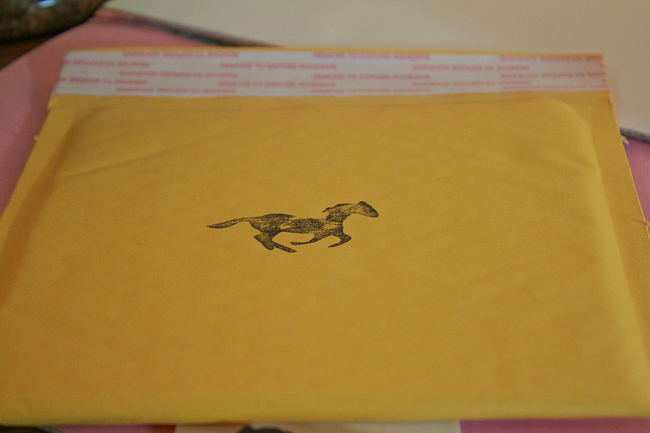 DIY Horse Stamp on envelope