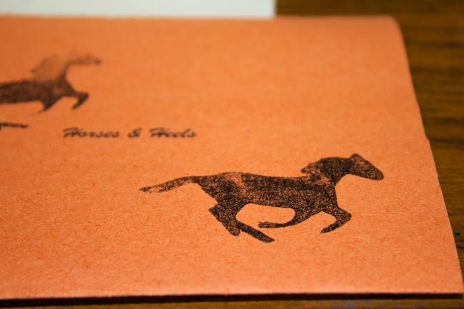 DIY Horse Stamp on paper