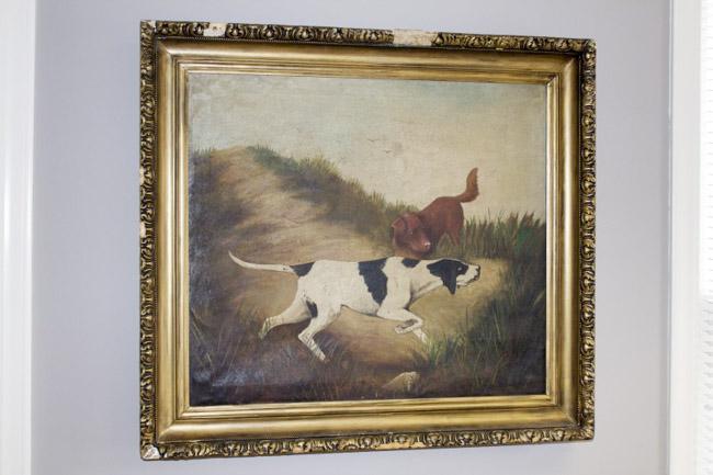 Vintage hunting painting