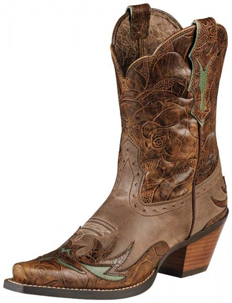 Ariat's Dahlia cowboy boot in brown
