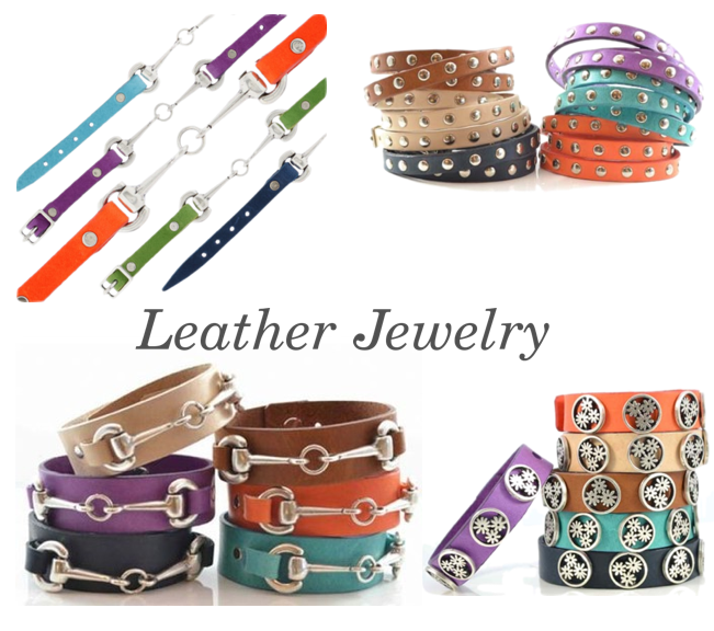 Leather jewelry from Butterfly Blue