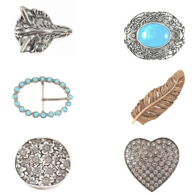 belt buckles at Butterfly Blue