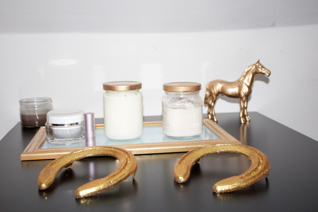 gold glittery equestrian style