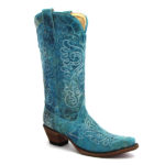Corral Turquoise Crater Cowboy Boots
