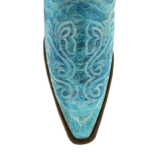 Corral Turquoise crater cream stitch cowboy boots