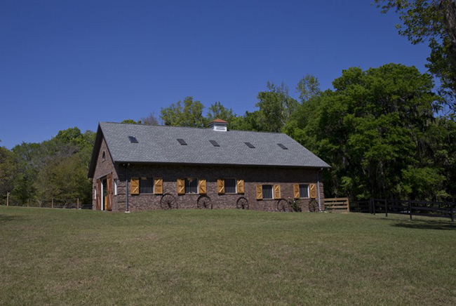 Gorgeous brick horse barn