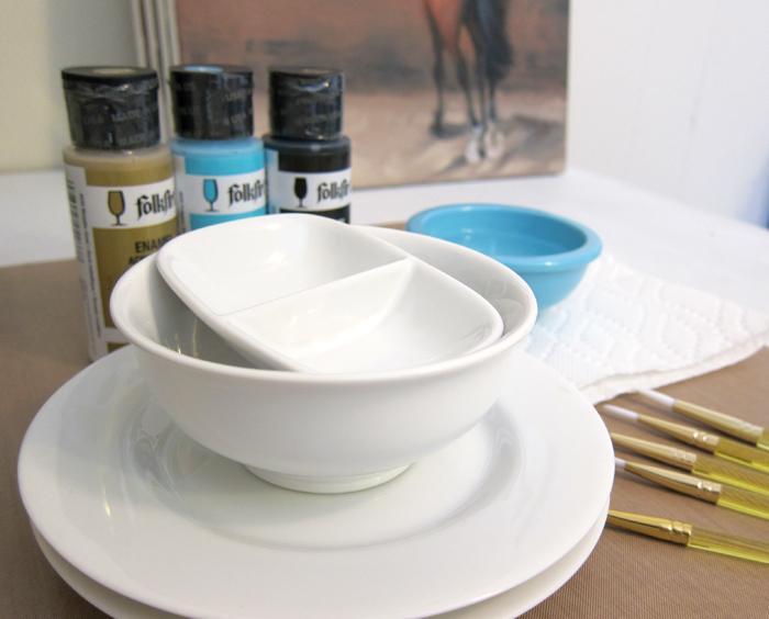 DIY equestrian porcelain paint jewelry displays