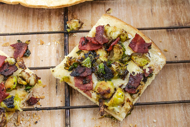 Brussels Sprouts & Bacon Pizza