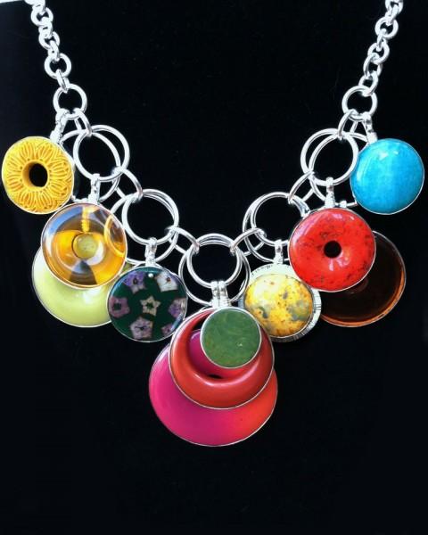 Coreen Cordova colorful necklace
