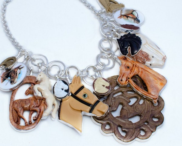 Coreen Cordova horses necklace
