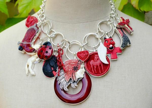 Coreen Cordova red necklace