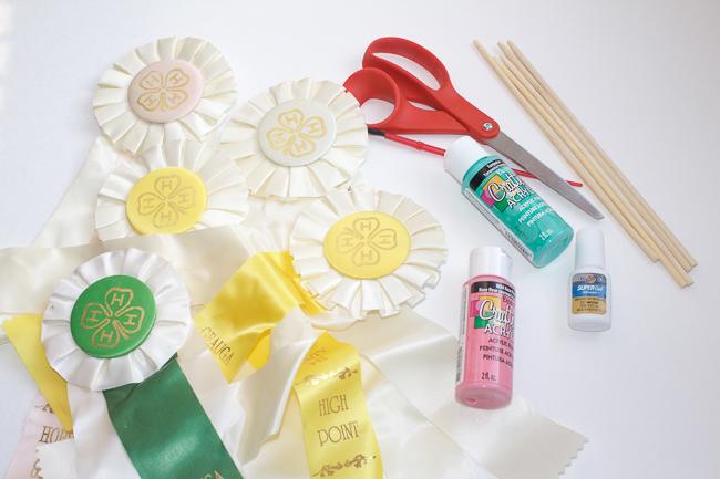 DIY Ribbon Decor Supplies