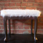 DIY: Faux Sheepskin Stool