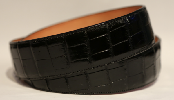 Black gator belt