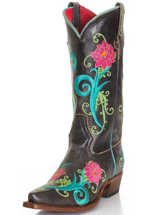 Macie Bean Black Cracktacular Cowboy Boots