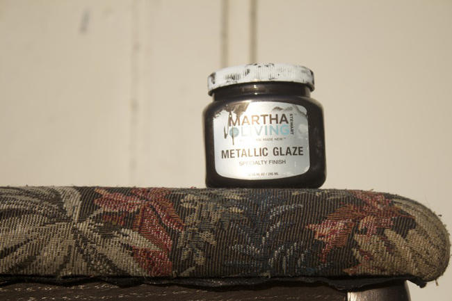 metallic glaze Martha Stewart paint