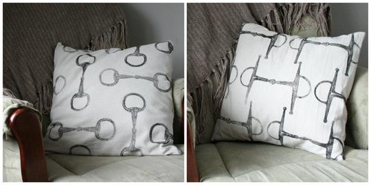 equestrian snaffle bit pillows