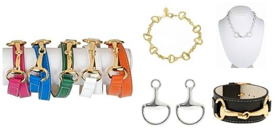 Pinklette snaffle bit jewelry