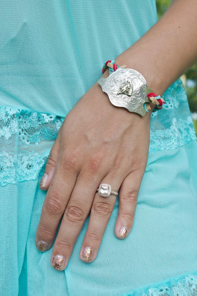 DIY braided kilty bracelet