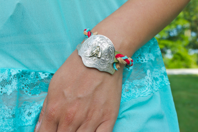 braided DIY kilty bracelet