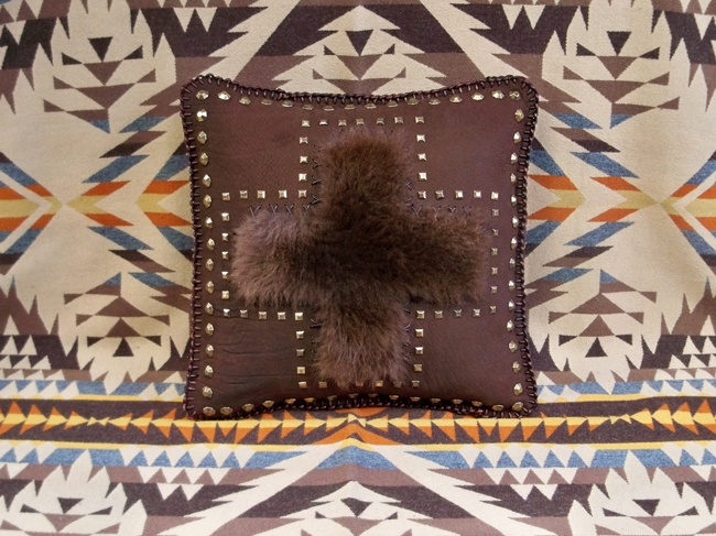 Stargazer Mercantile buffalo pillow