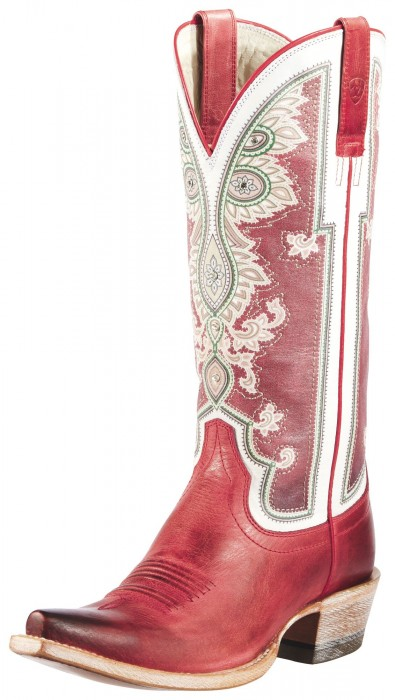 Ariat's red Alameda cowgirl boots