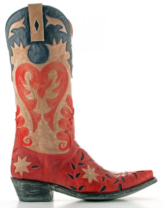 Old Gringo red, bone & blue cowgirl boots