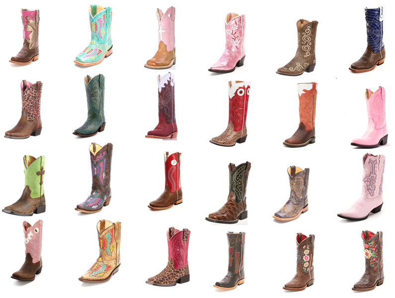 24 Pairs of Kid's Cowboy Boots