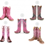 5 Pairs of Pink Cowboy Boots
