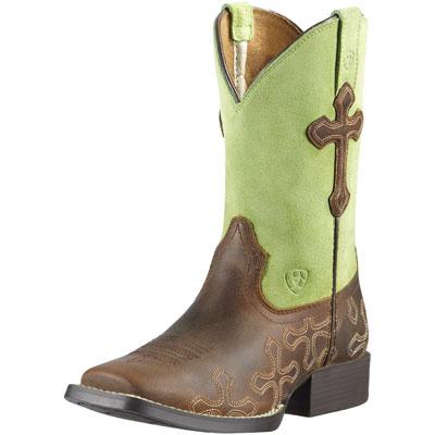Ariat Green Kids Cowboy Boots