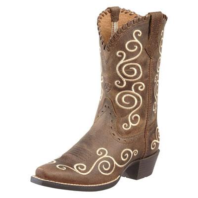Ariat Kids Cowboy Boots Brown
