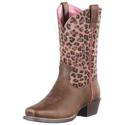 Ariat Kids Leopard Cowboy Boots