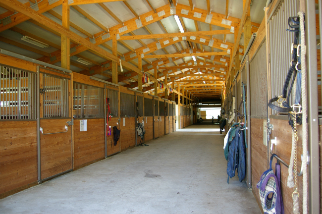 Bridlebourne Inside of stables