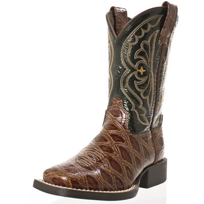 Brown & Black Ariat Kids Cowboy Boots