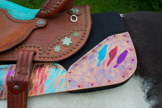 Corner Glittery Best Ever Saddle Pad