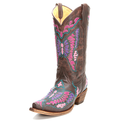 Corral Butterfly Kids Cowboy Boots