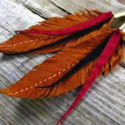 Feather and arrow earrings