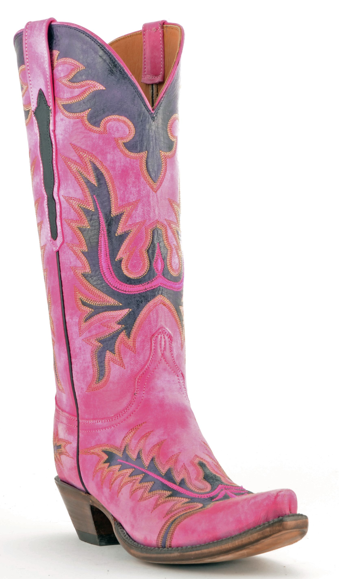 Hot Pink Lucchese Cowboy Boots