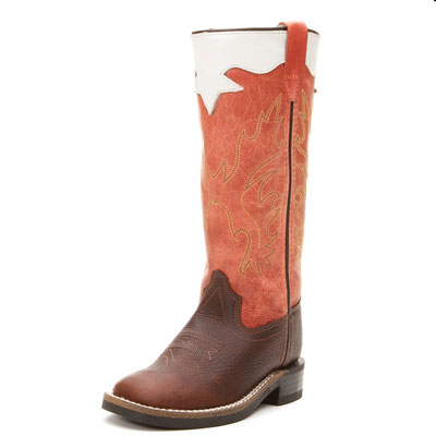 Orange Kids Old West Cowboy Boots
